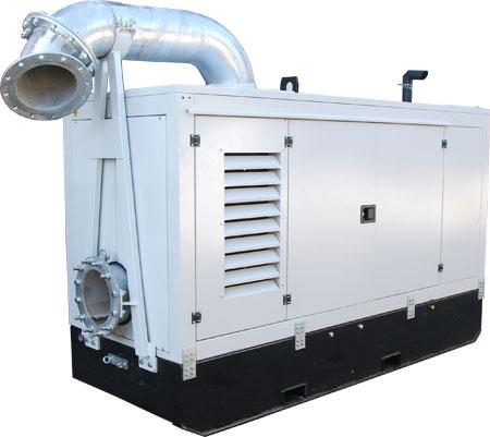 Agregat pompowy do ścieków wysokiej wydajności oparty o pompę Hidrostal F10K (1250m3/godz.)
