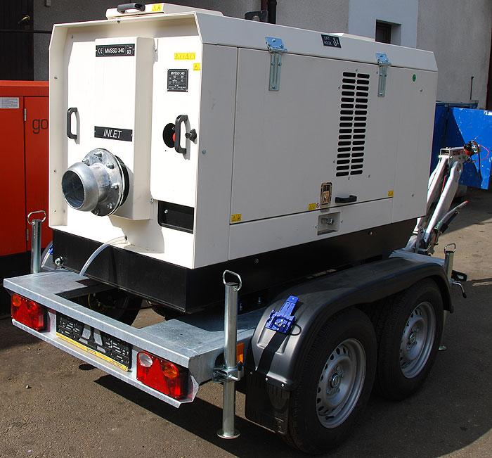 Pompa spalinowa przewoźna wyciszona do ścieków MVSS 340