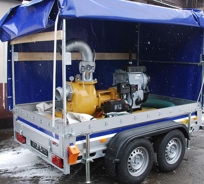 Pompa spalinowa przewoźna do ścieków s162