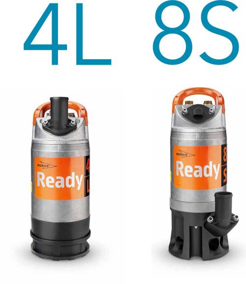 pompy zanurzeniowe Flygt Ready 4L i Ready 8S