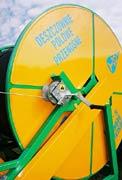 Mechanizm podnoszenia wózka oraz blokowania obrotnicy deszczowni