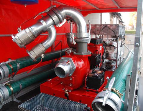 Pompa powodziowa 5000 l/min. z dostawy dla OSP Piaseczno