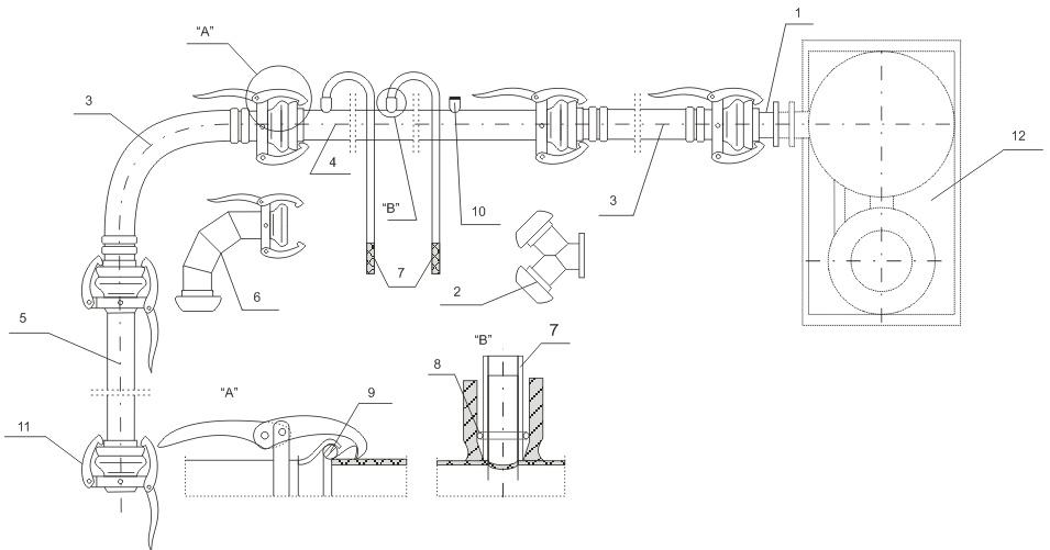 Schemat instalacji igłofiltrowej IgE 81/32