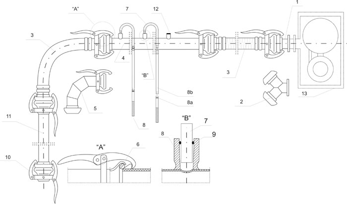 Schemat instalacji igłofiltrowej IgE 81/63