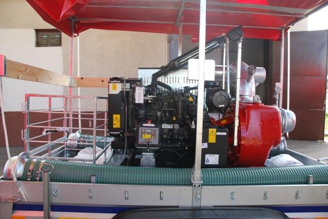 Pompa przewoźne wysokiej wydajności 9000 l/min - model RB831