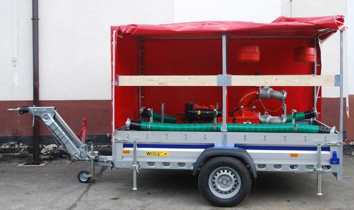 Motopompa przewoźna do wody zanieczyszczonej SPD F 6/12 - dostawa dla OSP Jaktorów