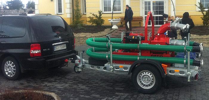 Motopompa przewoźna do wody zanieczyszczonej SPD F 6/12 - pokazy